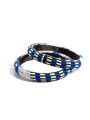 Blue and white Kente