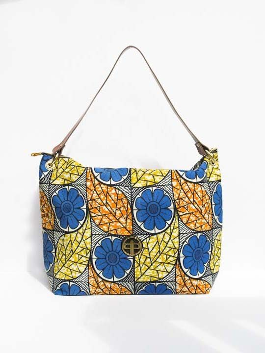 Multi-Colored Floral Ankara Oversized Tote1