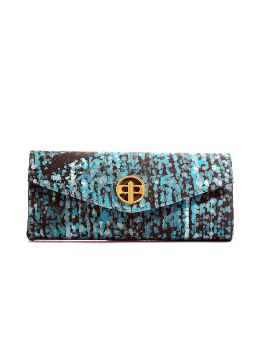 Prince Pearl Blue batik with black woodine fabric1