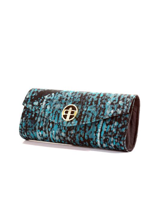 Prince Pearl Blue batik with black woodine fabric12