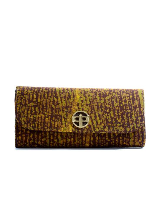Prince Pearl Brown batik cotton with black woodine fabric1