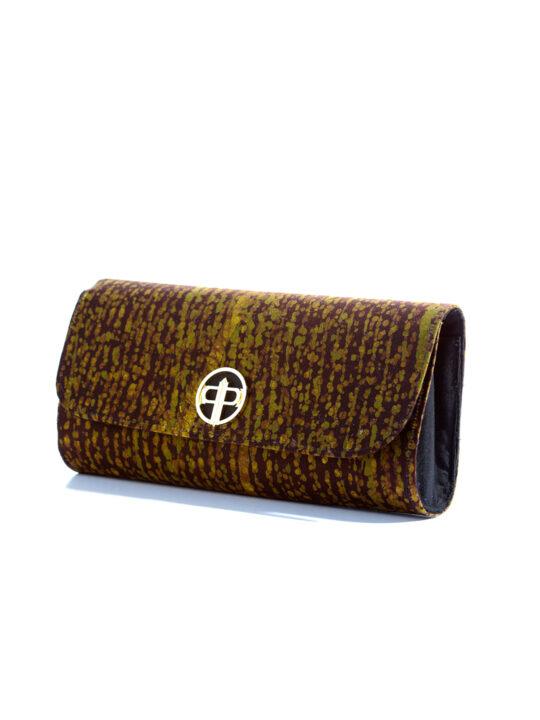 Prince Pearl Brown batik cotton with black woodine fabric2