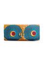 PrincePearl Blue & Orange Circle Ankara print 1