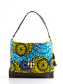 PrincePearl Blue & Yellow Wheel Ankara Print with Black PVC1