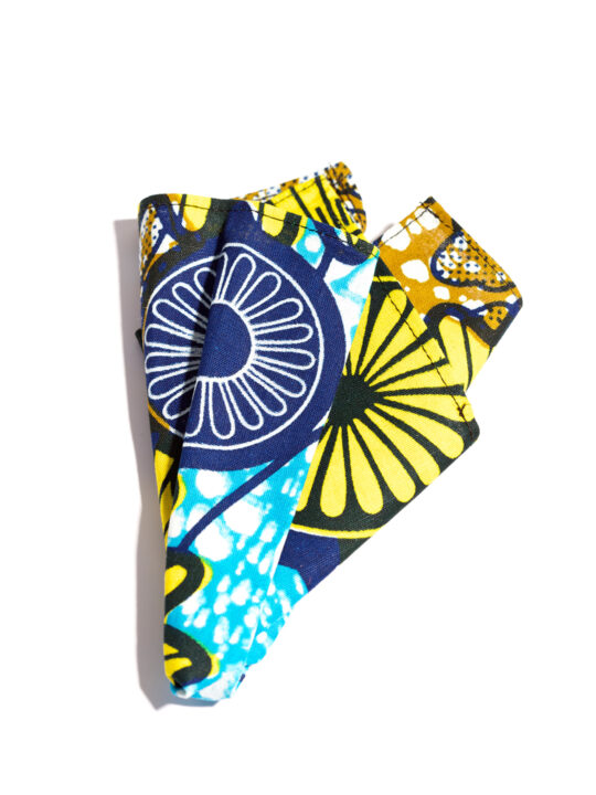Prince Pearl multi- colored wheel Ankara print