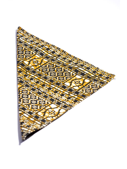 PrincePearl Black & Gold Ankara Print