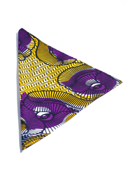 Purple & Gold Ankara Print