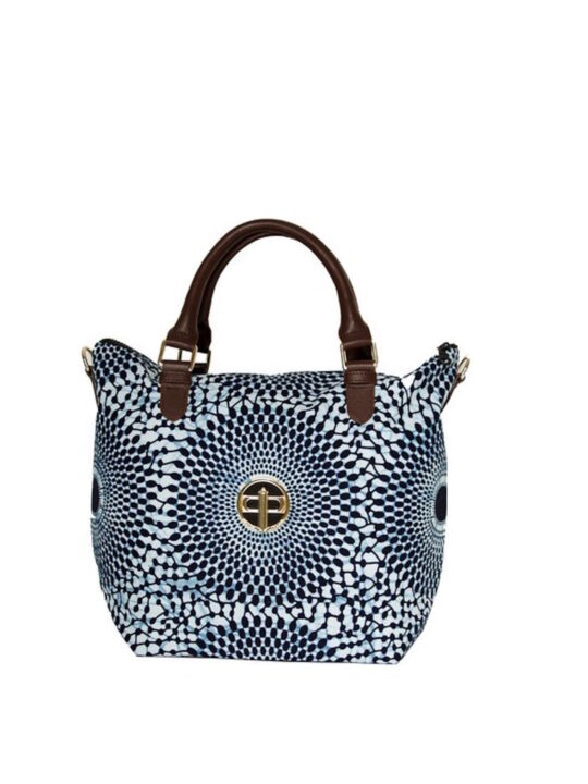 Navy Record mini tote Front